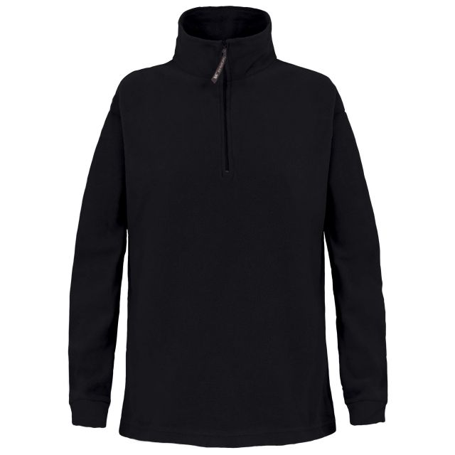 Pera Kids' Half Zip Fleece in Black