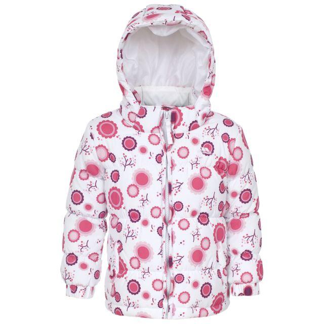 Janet Babies' Printed Water Resistant Jacket in White