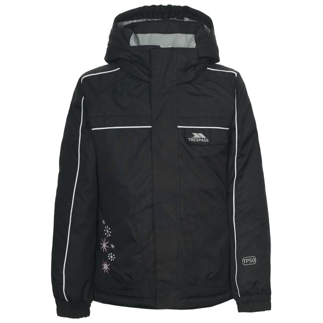 Jaya Girls' Ski Jacket in Black