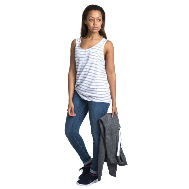 Fidget Women's Sleeveless T-Shirt in White