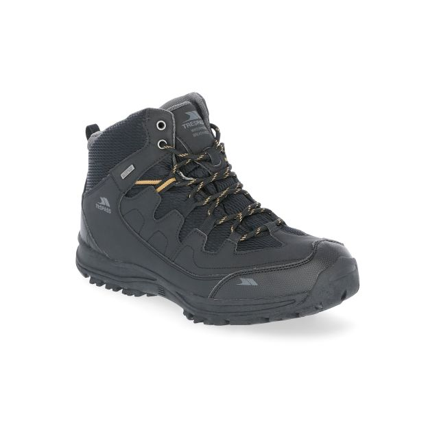 Finley Men's Waterproof Walking Boots in Black