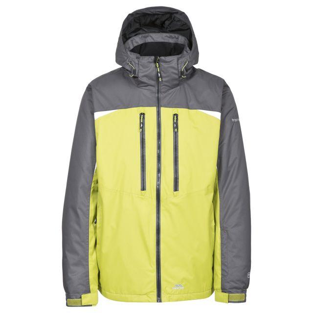 Flashing Men's Waterproof Ski Jacket in Neon Green