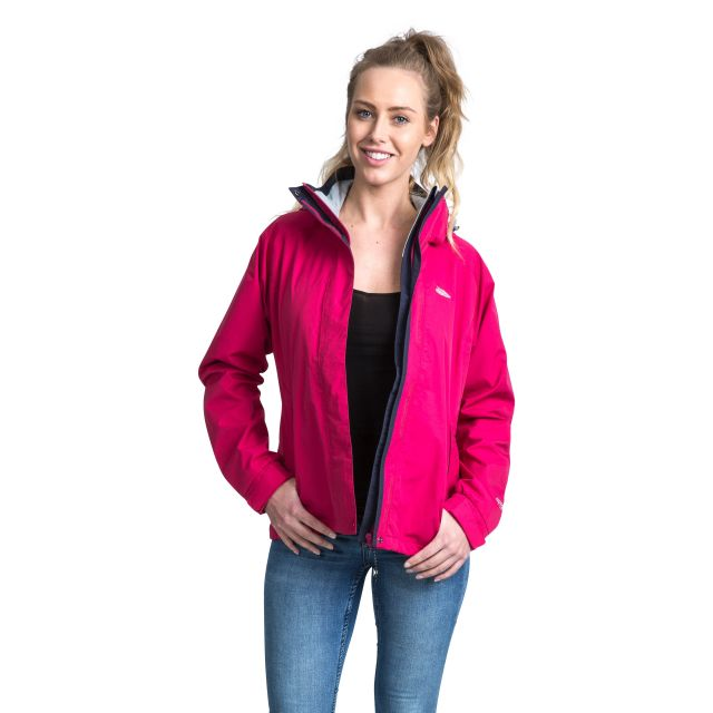 Florissant Women's Waterproof Hooded Jacket in Pink