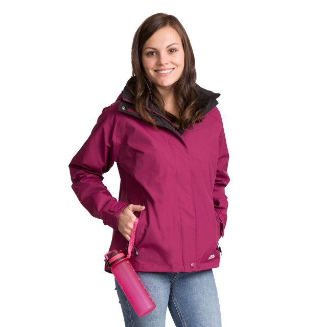 Florissant Women's Waterproof Hooded Jacket in Burgundy