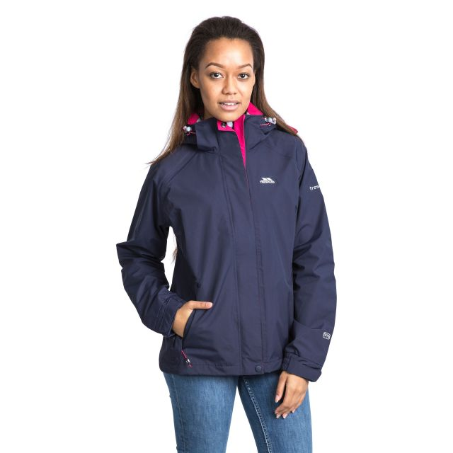 Florissant Women's Waterproof Hooded Jacket in Black