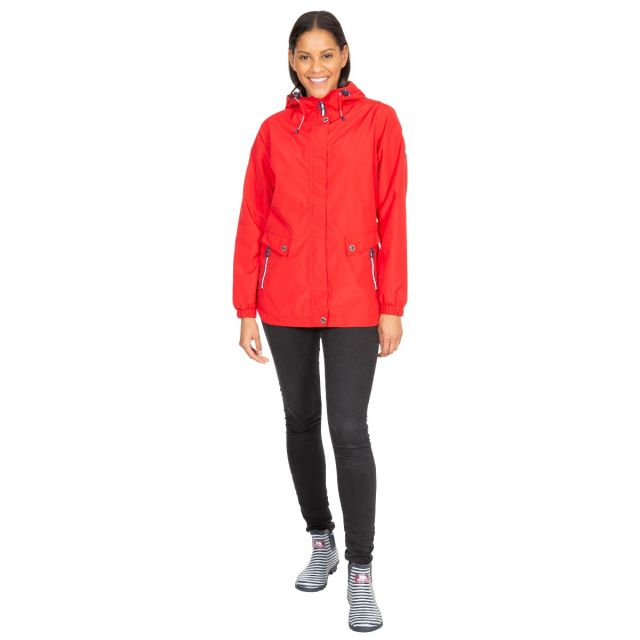 Flourish Women's Waterproof Jacket in Red