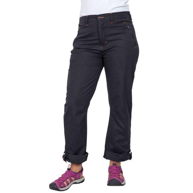 Footfall Women's Cargo Trousers in Black