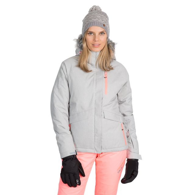 Francesca Women's DLX  Waterproof RECCO Ski Jacket in Light Grey
