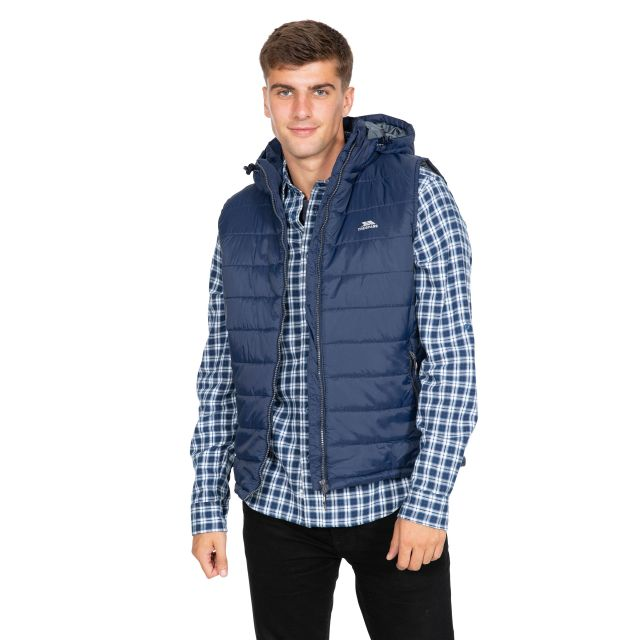 Franklyn Men's Hooded Gilet in Navy