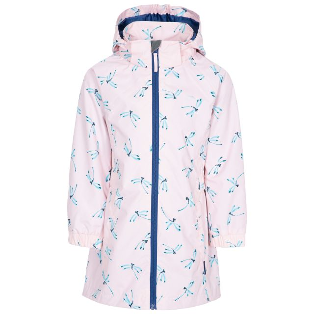Frejja Kids' Printed Waterproof Jacket in Light Pink