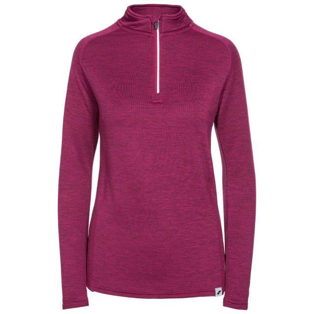 Trespass Womens Long Sleeve Top 1/4 Zip Knitted Freya