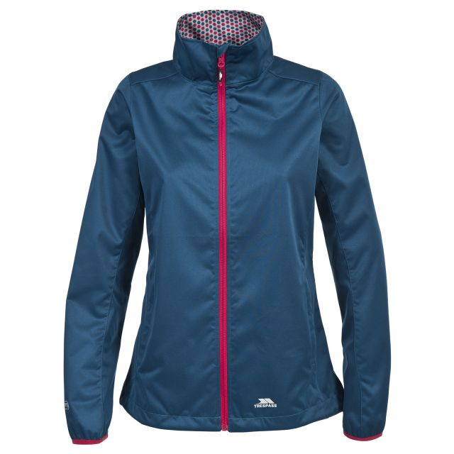 Trespass Womens Softshell Jacket Windproof Frieda Blue