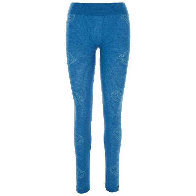 Friga Women's  Base Layer Trousers in Blue, Front view on mannequin