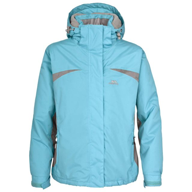 Amiata Girls' Waterproof Jacket in Light Blue