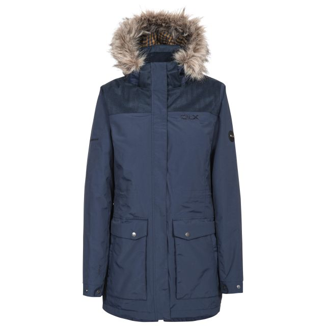 DLX Womens Waterproof Parka Jacket Garner in Navy