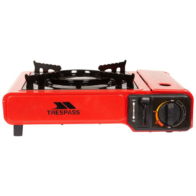 Gas Camping Stove in Burgundy
