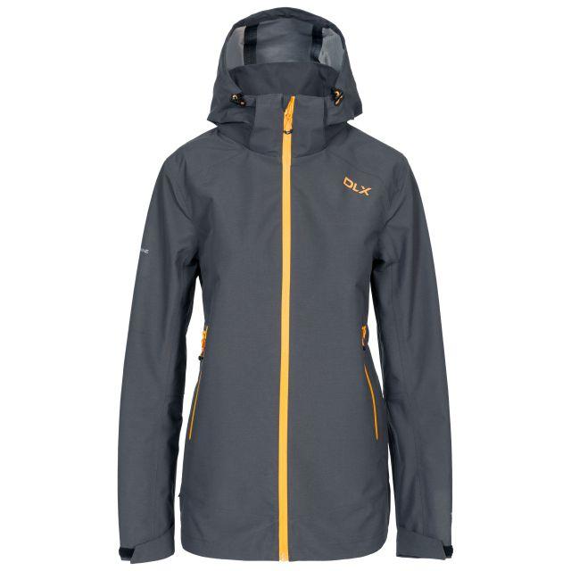 DLX Womens Waterproof Jacket with Hood Gayle in Grey