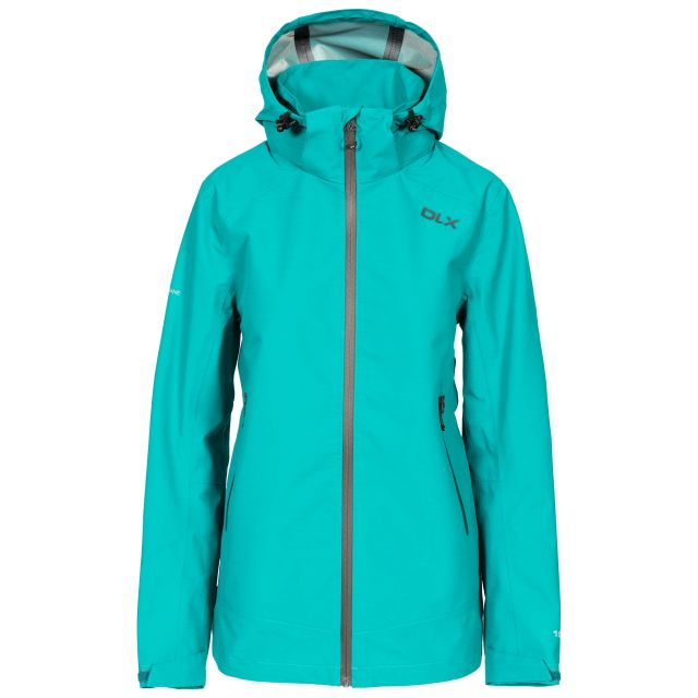 DLX Womens Waterproof Jacket with Hood Gayle in Green