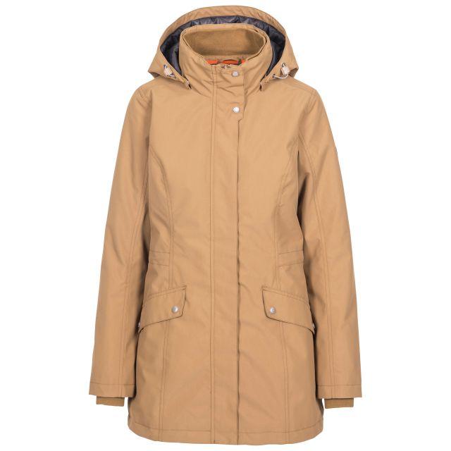 Trespass Womens Waterproof Jacket Padded Generation Beige