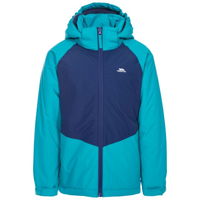Georgian Kids' Padded Waterproof Jacket in Blue