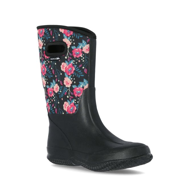 Geraldine Women's Printed Wellies in Black