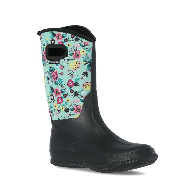 Geraldine Women's Printed Wellies in Light Green