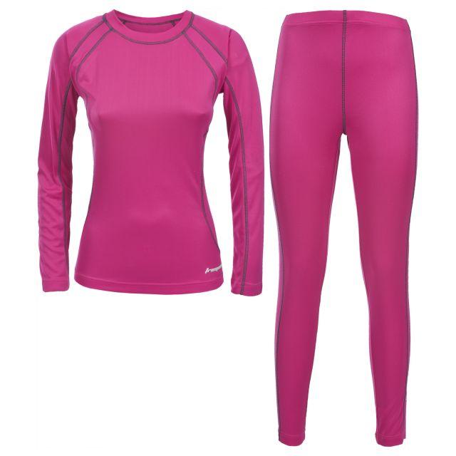 Glees Women's Thermal Set in Pink