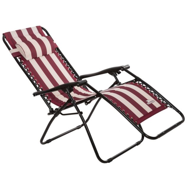 Glentilt Padded Reclining Sun Lounger Chair in Red