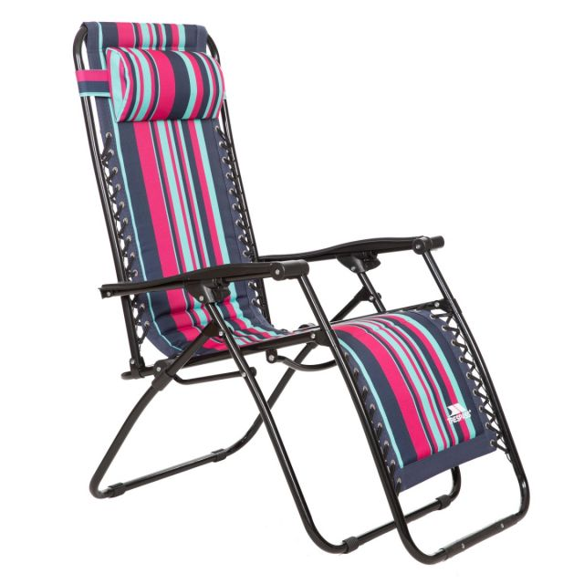 Glentilt Padded Reclining Sun Lounger Chair, Angled view of chair