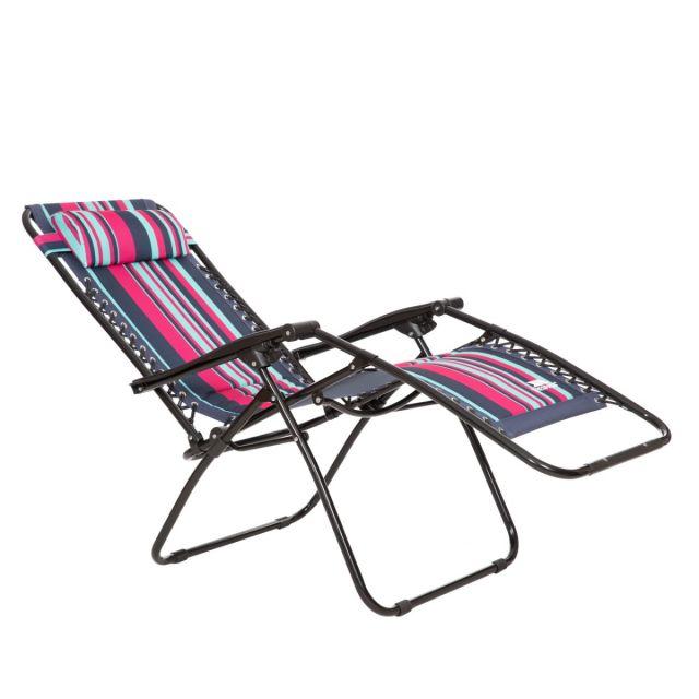 Glentilt Padded Reclining Sun Lounger Chair in Tropical Stripe