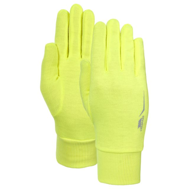 Glo Further Adults' Gloves in Yellow