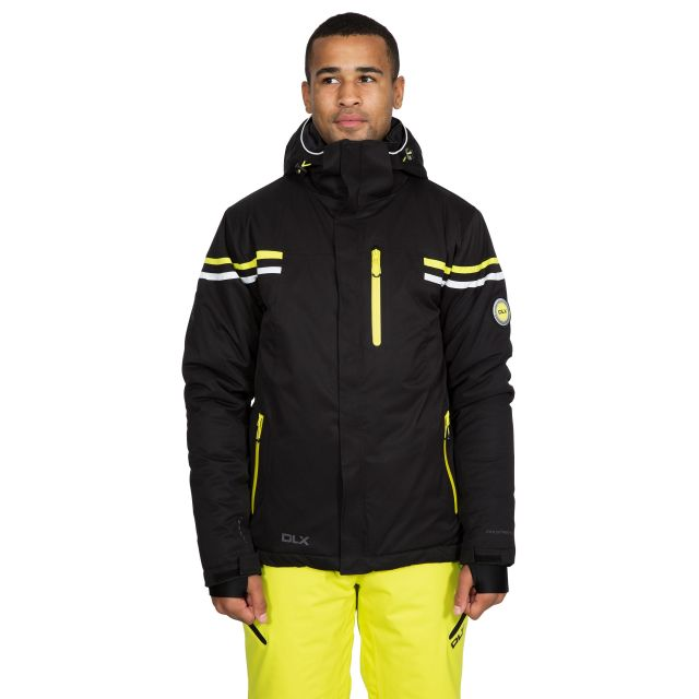 Gonzalez Men's DLX Waterproof RECCO Ski Jacket in Black