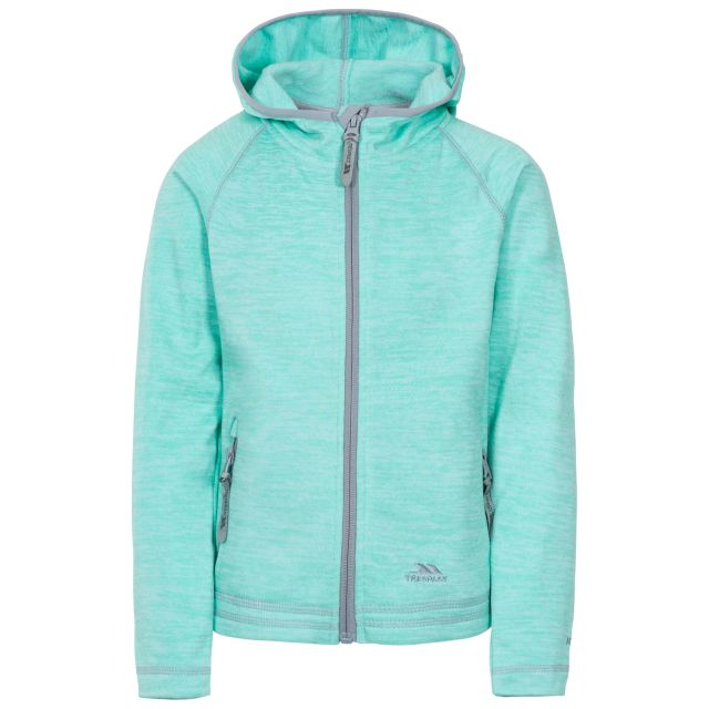 Goodness Kids' Full Zip Fleece Hoodie in Light Green