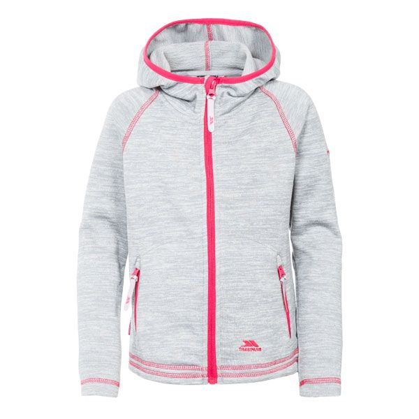 Goodness Kids' Full Zip Fleece Hoodie in Light Grey