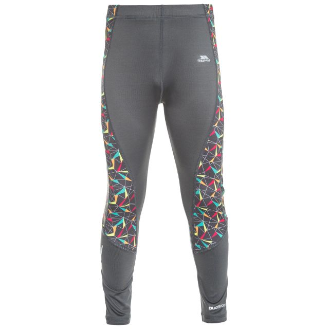 Graceful Kids' Printed Active Leggings in Grey
