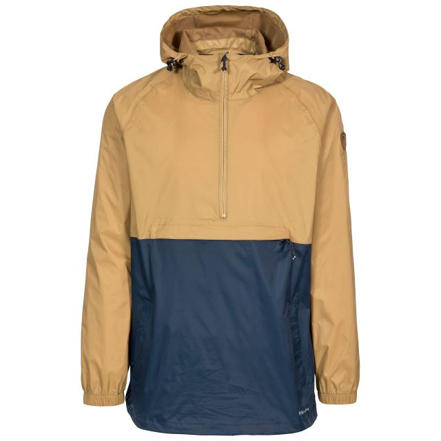 Gusty Men's Waterproof Packaway Jacket in Tan