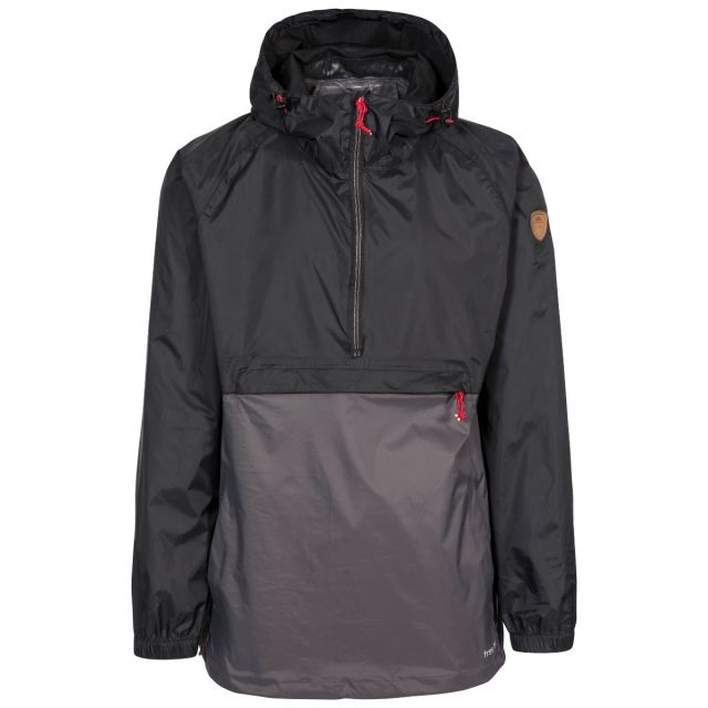 Gusty Men's Waterproof Packaway Jacket in Black