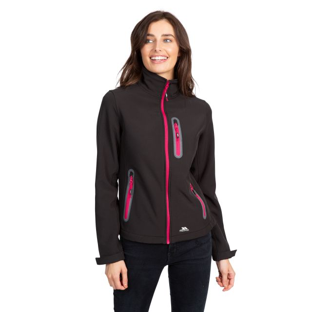 Hallie Women's Lightweight Softshell Jacket in Black
