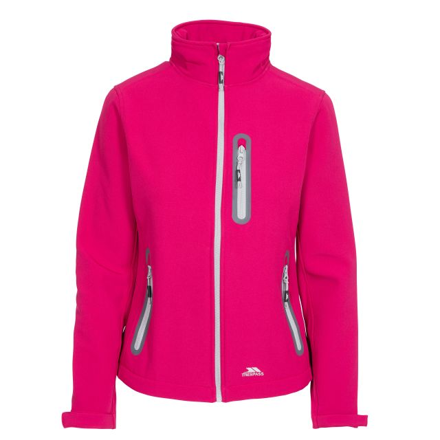 Hallie Women's Lightweight Softshell Jacket in Pink