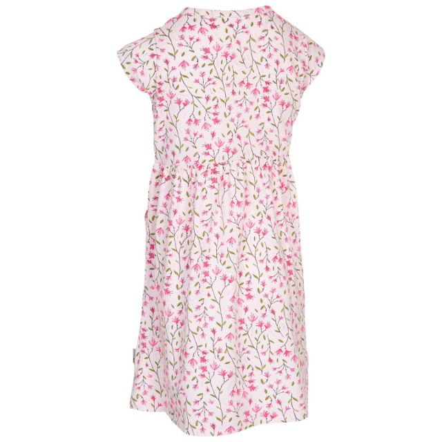 Trespass Kids Short Sleeve Dress Floral Print Happiness