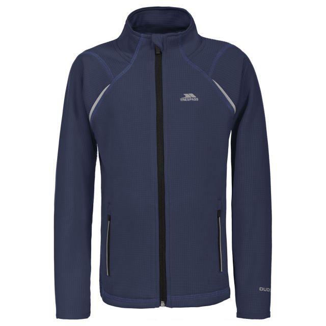 Harbird Kids' Full Zip Fleece Jacket in Navy