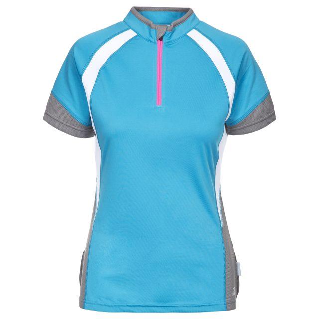 Harpa Women's 1/2 Zip Cycling T-Shirt in Blue