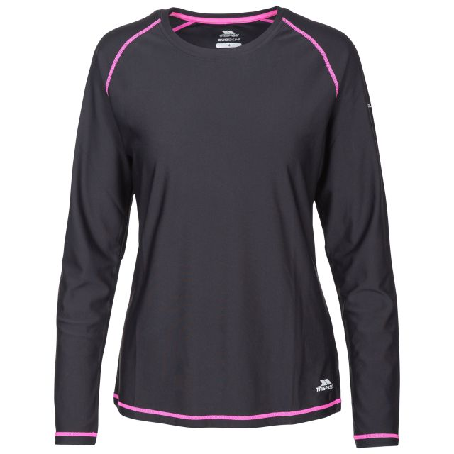 Hasting Women's Quick Dry Long Sleeve T-Shirt - BLK