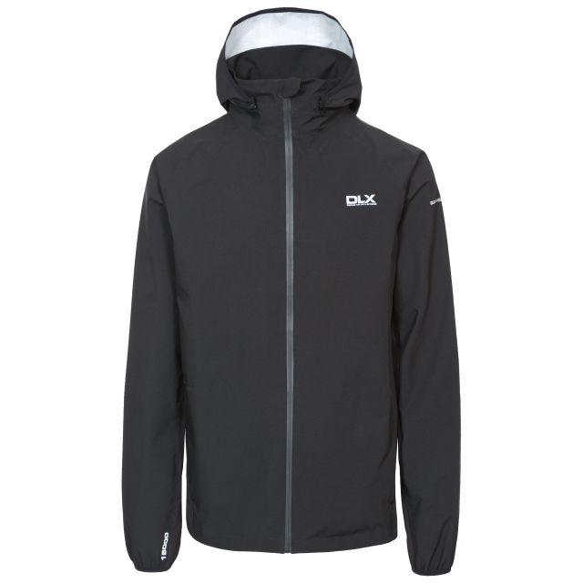 Hawkings Men's DLX Waterproof Packaway Jacket in Black