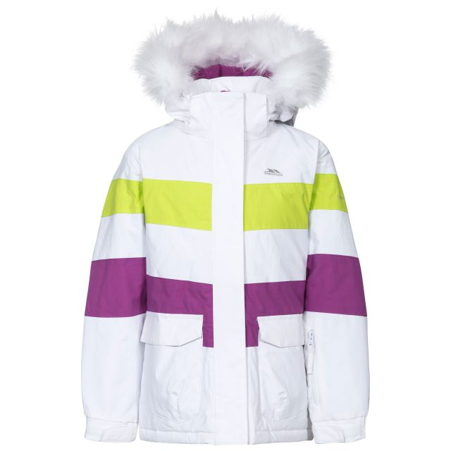 Hawser Girls' Ski Jacket in White
