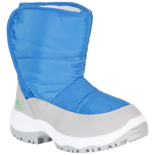 Trespass Kids Snow Boots Fleece Lined Water Resistant Hayden Blue