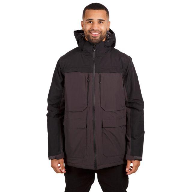 Heathrack Men's Padded Waterproof Jacket in Dark Grey
