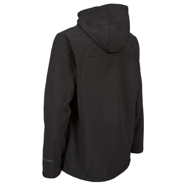 Hebron Men's Softshell Jacket in Black