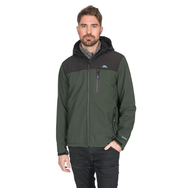 Hebron II Men's Hooded Softshell Jacket in Khaki