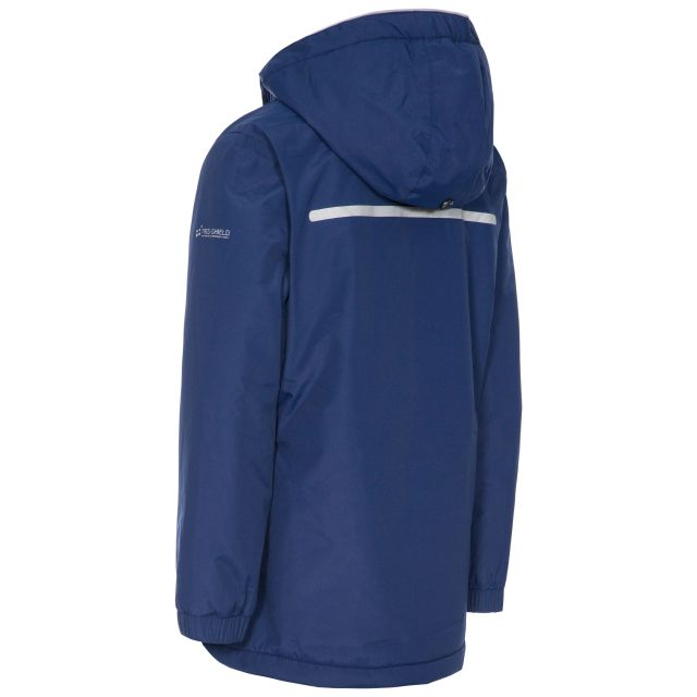 Heddar Kids' Padded Waterproof Jacket in Navy
